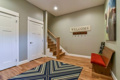 Foyer with Large Coat Closet &  Bench Seating
