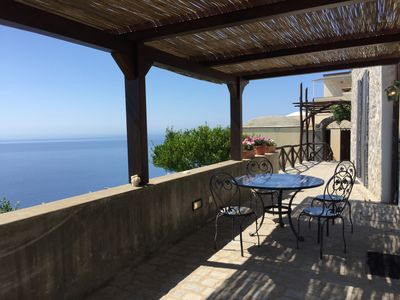Photo for Beautiful house with gardens and a terrace overlooking the sea just 4 km from Amalfi