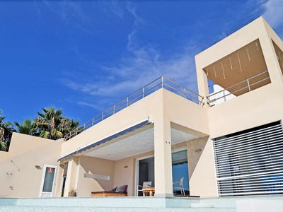 Photo for Wonderful villa with sea view and sunsets in Cala Conta