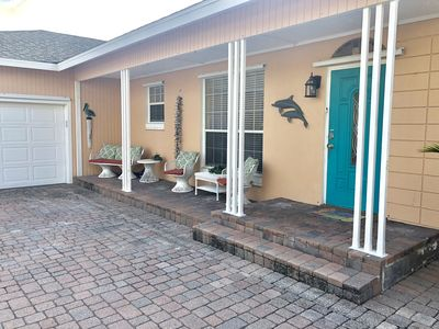 Photo for Gulf Access, Screened Heated Pool, White Sandy Beach = Perfect Vacation Home!