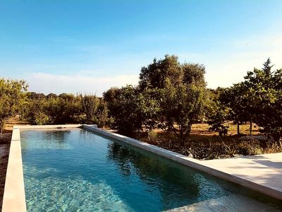 Photo for Old stone house with swimming pool surrounded by fruit trees