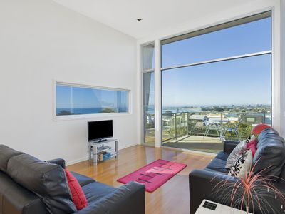 Photo for THE LOOKOUT - ELEVATED PANORAMIC OCEAN & APOLLO BAY VIEWS