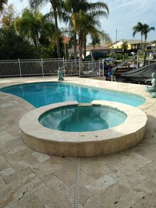 Hot tub empties into pool