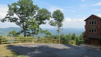 The view from the driveway