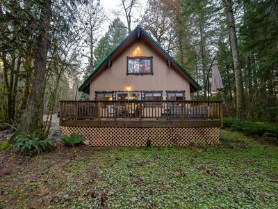 Photo for Cabin #22 - Cozy pet friendly cabin with a hot tub and Wi-Fi!