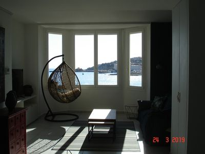 Photo for New T2, spacious 53m² beachfront, facing the beach, magnificent views
