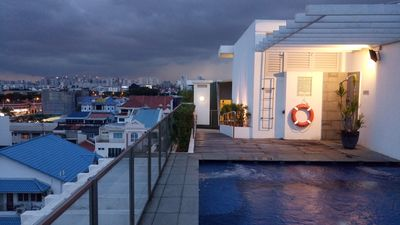 Photo for Sky Terrace with pool, jacuzzi, garden & terrace (Near MRT)