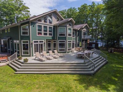 Photo for Magnificent View Point- Lakefront Home w/ Fire Pit & Hot Tub