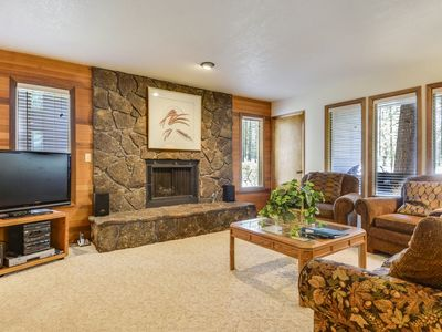Photo for The Ridge at Sunriver - Condo #9 - Access provided to S.H.A.R.C. Aquatics Park. Only condos next door to S.H.A.R.C. Two minute walk to S.H.A.R.C. Facility. Private Ridge HOA Pool and Year Round Hot Tub Too! Includes 4 bikes.