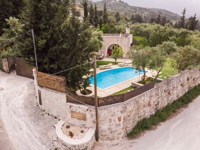 Photo for Traditional,Luxury Stone Villa with Pool and View.