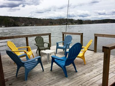 Photo for Beautiful water-front home on Badin Lake!