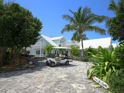 Photo for Luxury 3BR w/Private Heated Pool, Walk to Town, Beach. GOLF CART INCLUDED