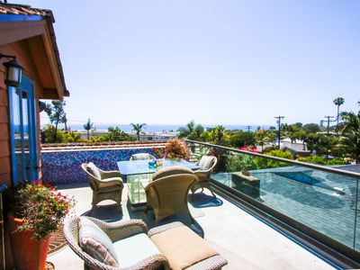 Photo for Cardiff By The Sea OceanView Home ~ Featuring Rooftop Patio W/ Fireplace & BBQ!
