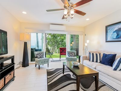 Photo for Modern oceanfront condo on Alli Drive, complex pool *WiFi, A/C, Lanai* Perfect for Couples