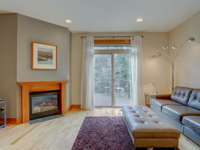 Photo for B2 - Gorgeous Townhome, Downtown Location,Cozy with Fireplace, Walk to Everything