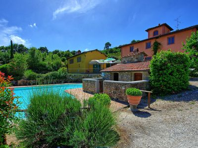 Photo for Private Villa with A/C, private pool, WIFI, hot tub, TV, panoramic view, parking, close to Florence