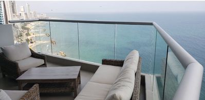 Photo for Exclusive beachfront apartment / AC / 24th floor