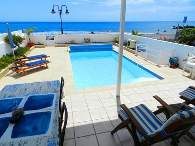Photo for RocaMar a Seafront Villa with Heated Pool in Punta Mujeres