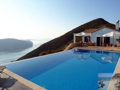 Photo for Villa Panorama Lefkada. Exceptional sea views - Infinity pool - air con.