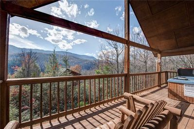 Romance in The Mountains - Start your day by admiring the sunrise over the mountains from the loveseat rocker on the deck at Bearway to Heaven, or end it with drinks for two as you both marvel at the abundance of stars twinkling in the night sky.