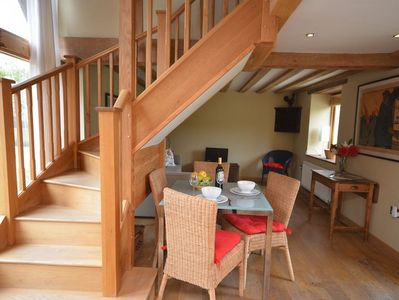 Beautiful staircase leading to bedroom and bathroom