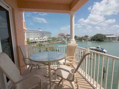 Photo for Marina View, Watch Dolphins From Balcony, W/D, Free Wi-Fi & Cable, Pool, Soaking Tub -303 Harborview