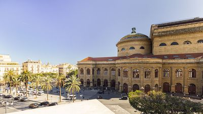 Photo for Spacious apartment in the heart of the old town of Palermo, right in front of the Teatro Massimo.