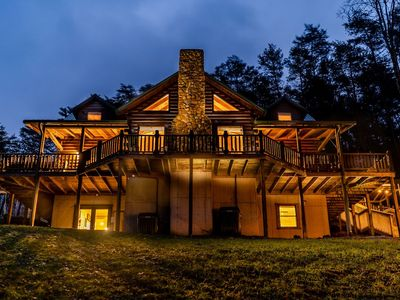 Photo for The Lodge: SLEEPS 23 - Hot Tub, Fire Pit, Gameroom