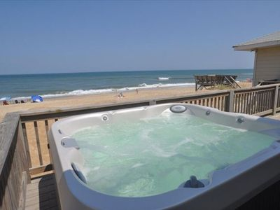 Photo for Oceanfront, Hot Tub Oceanside, 4 Bedroom, 2 Bath, Large Deck