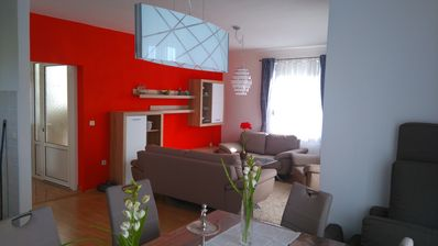 Photo for Apartment 1 Modern apartment, large balcony, 50m. to the sea