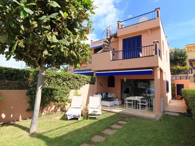 Photo for Magnificent Bungalow with sea and Golf views  and large garden and solarium