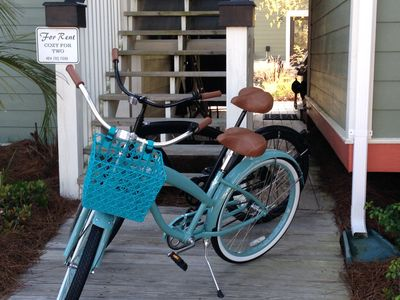Cruiser bikes for your riding enjoyment during your stay!