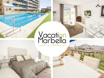 Photo for NEWLY DECORATED FLAT FOR UP TO 4 WITH SWIMMING POOL, IDEAL FOR SHOPPING LOVERS!