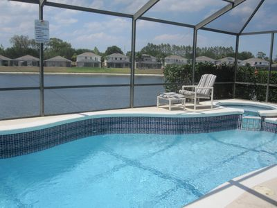 Photo for Sunset Vista Luxury Lakeside Villa - Pool & Spa Heat INCLUDED - mins from Disney