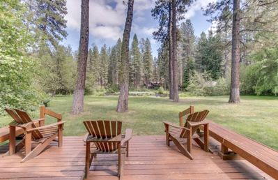 Photo for The Ultimate Metolius Experience - Luxurious cabin on the Metolius River w/ fireplace, cable & free