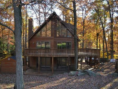 Photo for Poconos Chalet home at Lake Wallenpaupack-Pool Table-Fire Pit-Golf course views