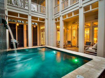 Photo for Luxurious 7 Bedroom Home Directly on 30A in WaterColor w/ Private Pool!