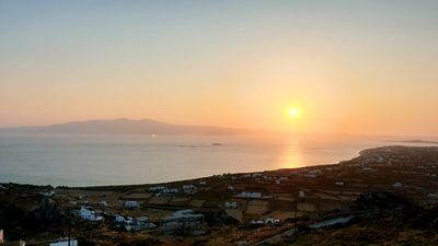 Photo for 180-degree panoramic view of the sea and Paros. Stunning sunsets!