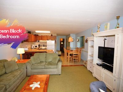 Photo for Cozy, comfortable 1 bedroom ocean block condo with free WiFi and classy decor located midtown just a short walk to the beach!