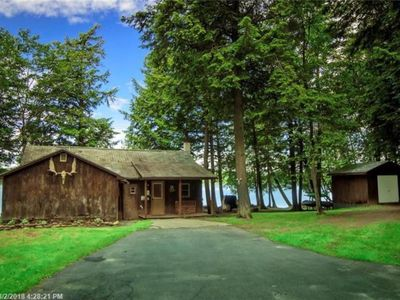Photo for Cozy cabin with 200' of waterfront on Whites Pond