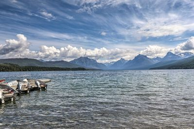 You'll be a short walk away from this stunning view of Lake McDonald.