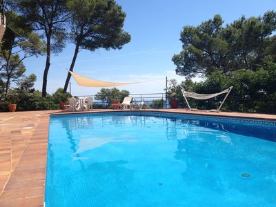 Photo for Beautiful villa with spectacular views on the sea, great private pool, free WIFI