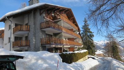 Photo for 2 1/2 room apartment with sun terrace Crans-Montana