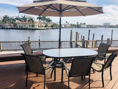 Photo for Intracoastal /Water view walking distance to beach  luxury 3 rooms townhouse