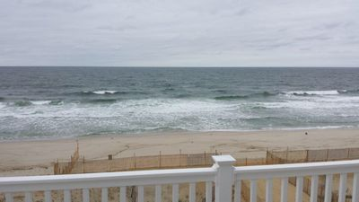 Photo for Newly renovated  home  1st floor on private beach, No groups, no proms