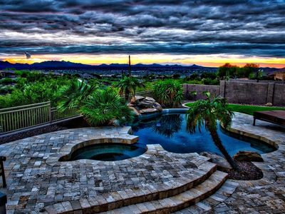 Photo for Gorgeous Custom Home With Breathtaking Mountain & City Light Views!