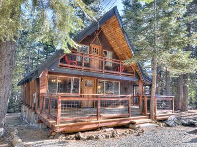 Photo for Cozy and Stylish Tahoe Cabin in Chamberlands w/ pool, private beach, tennis courts and HOA