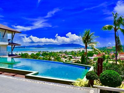 Photo for BEAUTIFUL SEA VIEW, HIGH STANDING 76 m2, MAGNIFICENT VIEW, SEPARATE ROOM