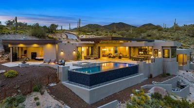 Photo for Fabulous Secluded Modern Estate in Carefree, AZ w/ Mountain Views