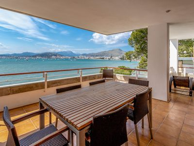 Photo for Apartment in front of the sea, 1m from the beach, in Puerto Pollenca, Mallorca